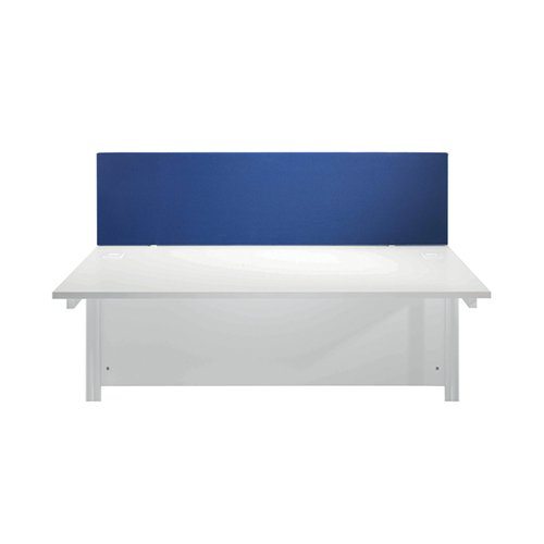 Jemini Blue 1200mm Straight Desk Screen (Dimensions: 1200mm x 28mm x 400mm) KF78978