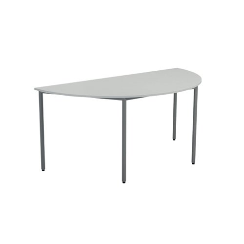 Jemini White Semi Circular Table (Dimensions: W1600 x D800 x H730mm ) KF79033