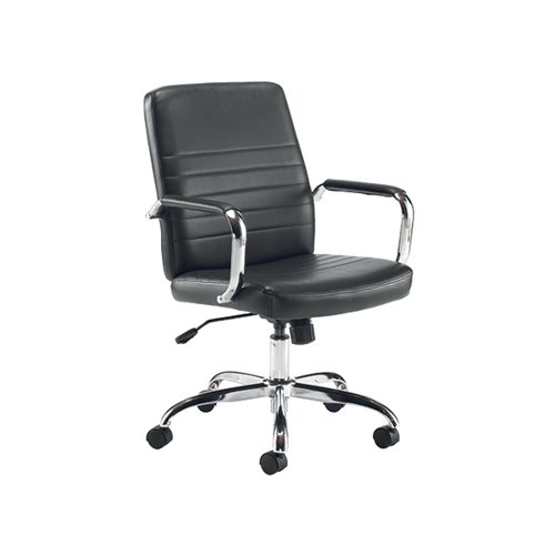 Jemini Amalfi Leather Look Meeting Chair Black KF79135