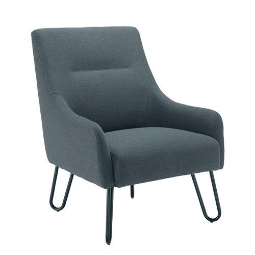 Jemini Reception Armchair 650x800x860mm Grey KF79142