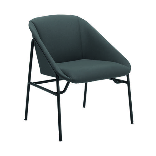 Jemini Bistro Reception Armchair 640x640x770mm Grey KF79230