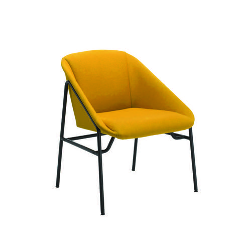 Jemini Mustard Bistro Reception Armchair (Seat height: 430mm) KF79231