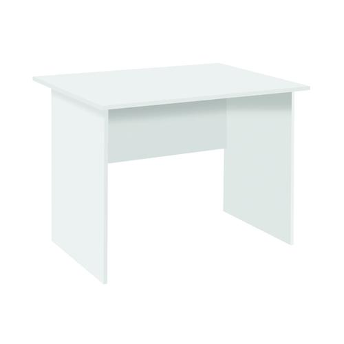 Serrion Eco 18 Rectangular Panel End Desk 1500 x 750mm White KF79823