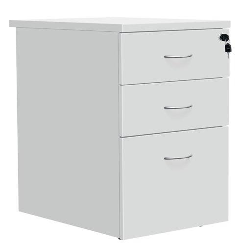 Serrion Eco 18 Desk High Pedestal D600mm White KF79828