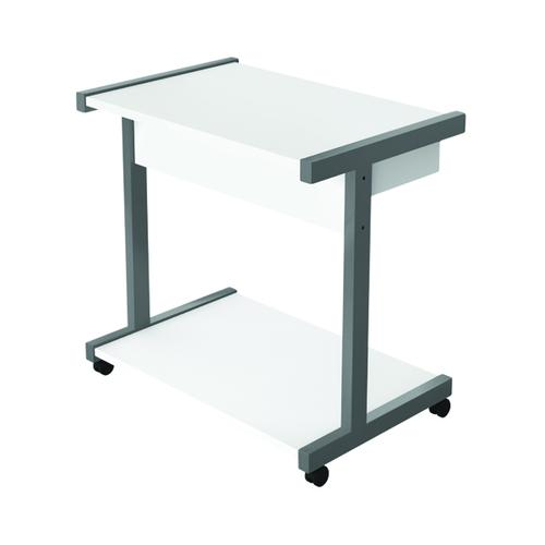 Serrion Mobile PC/Printer Stand White EMPSWH