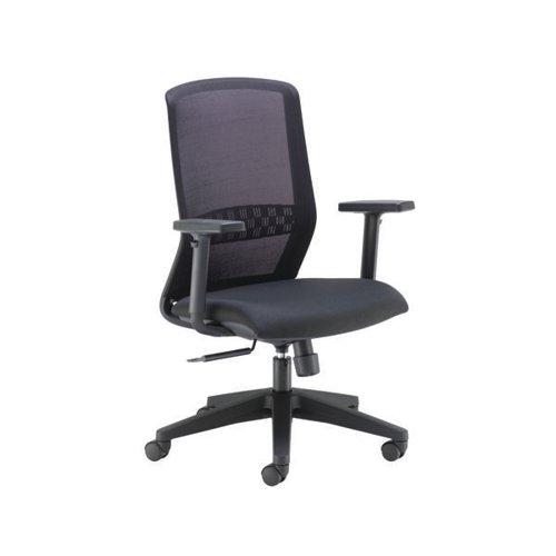 Arista Tekna High Back Executive Chair 670x630x945-1065mm Mesh Back Black KF79886