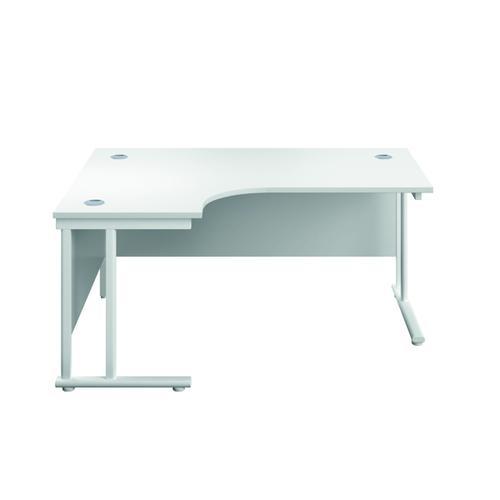 Serrion Left Hand Radial Cantilever Desk 1200mm White KF800161
