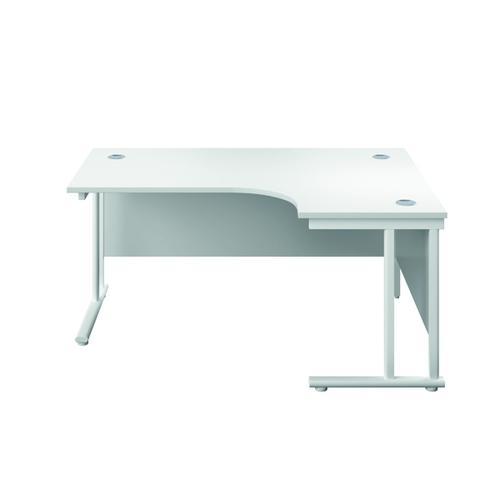 Serrion Right Hand Radial Cantilever Desk 1200mm White KF800183