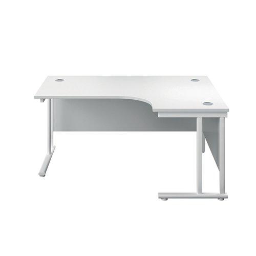 Serrion Right Hand Radial Cantilever Desk 1500mm White KF800199