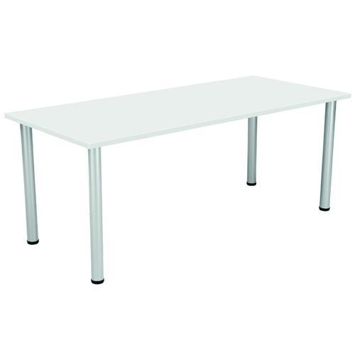 Serrion Rectangular Meeting Table White KF800210