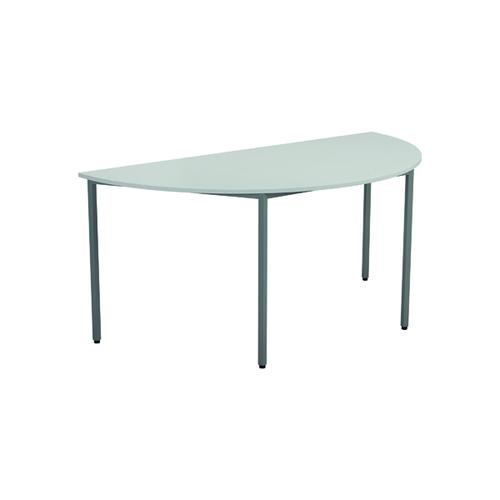 Serrion Semi-Circular Meeting Table White KF800239