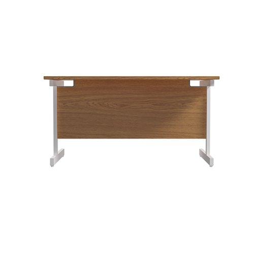 Jemini Single Rectangular Desk 1200x800mm Nova Oak/White KF801083