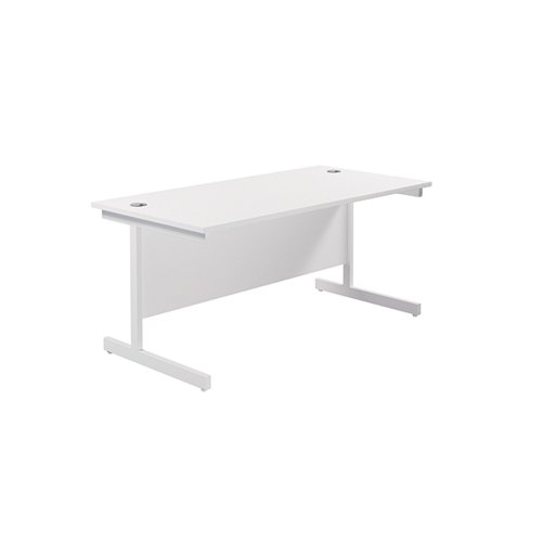 Jemini Single Rectangular Desk 1800x800mm White/White KF801459