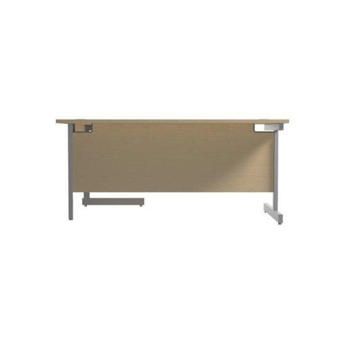 Jemini Right Hand Radial Desk 1800x1200mm Maple/Silver KF802067