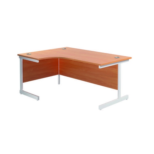 Jemini Left Hand Radial Desk 1800x1200mm Beech/White KF802089