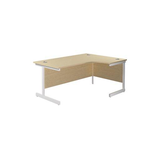 Jemini Right Hand Radial Desk 1800x1200mm Maple/White KF802185