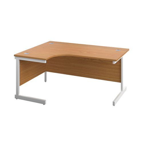 First Left Hand Radial Desk 1800x1200mm Nova Oak/White KF803201