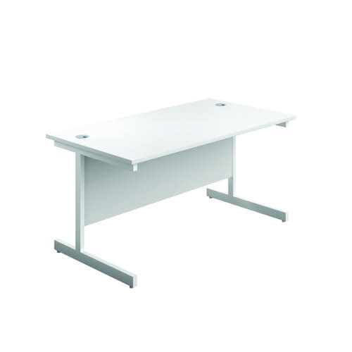 First Single Rectangular Desk 1200x800mm White/White KF803362