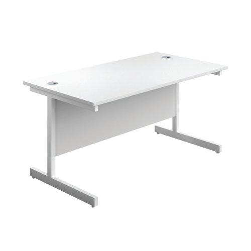First Single Rectangular Desk 1800x800mm White/White KF803546