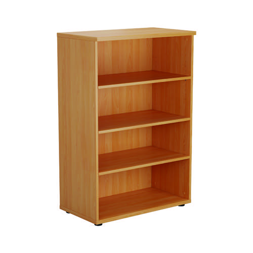 First 1200 Wooden Bookcase 450mm Depth Beech KF803652