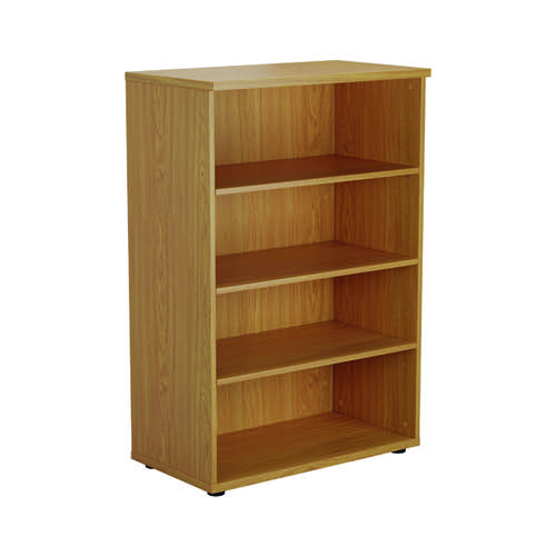 First 1200 Wooden Bookcase 450mm Depth Nova Oak KF803669