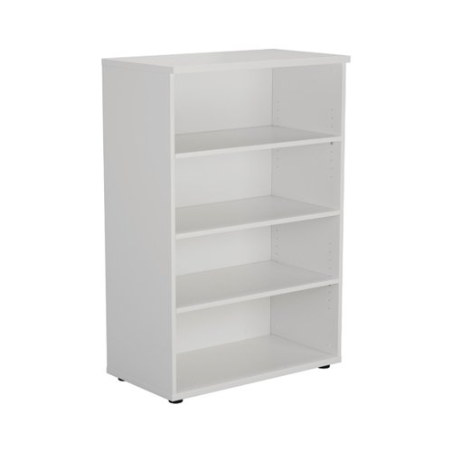 First 1200 Wooden Bookcase 450mm Depth White KF803676