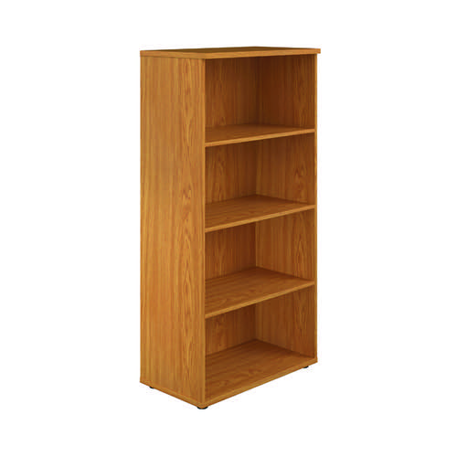 First 1600 Wooden Bookcase 450mm Depth Nova Oak KF803690