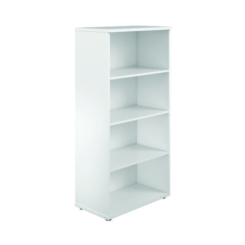 First 1600 Wooden Bookcase 450mm Depth White KF803706
