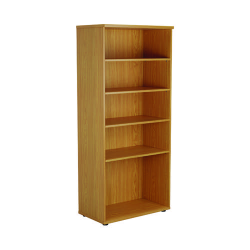 First 1800 Wooden Bookcase 450mm Depth Nova Oak KF803720