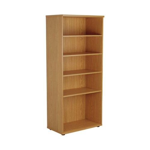 First 4 Shelf Wooden Bookcase 800x450x1800mm Nova Oak KF803720