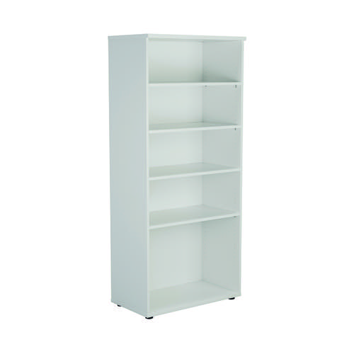 First 1800 Wooden Bookcase 450mm Depth White KF803737
