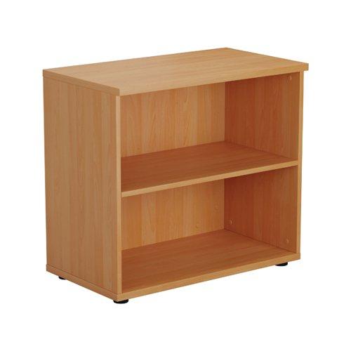First 1 Shelf Wooden Bookcase 800x450x700mm Beech KF803775