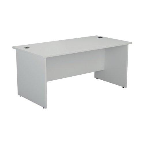Jemini Rectangular Panel End Desk 1200x800mm White KF804376