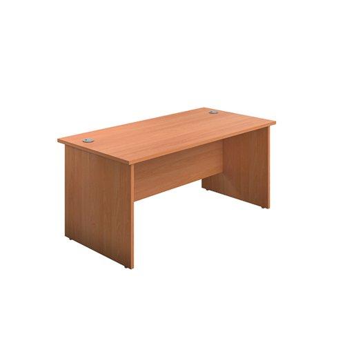 Jemini Rectangular Panel End Desk 1400x800x730mm Beech KF804406