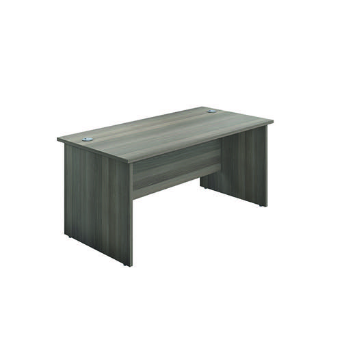 Jemini Rectangular Panel End Desk 1400x800mm Grey Oak KF804413