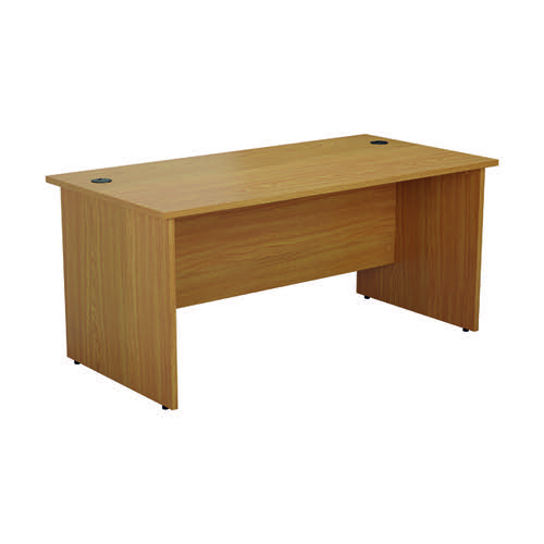 Jemini Rectangular Panel End Desk 1400x800x730mm Nova Oak KF804420