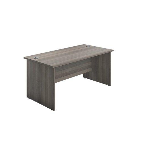 Jemini Rectangular Panel End Desk 1600x800mm Grey Oak KF804475