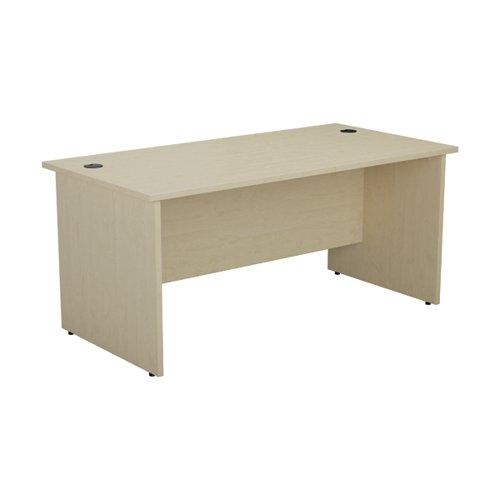 Jemini Rectangular Panel End Desk 1600x800mm Maple KF804505