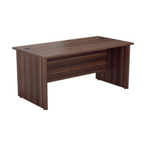 Jemini Rectangular Panel End Desk 1600x800mm Dark Walnut KF804512