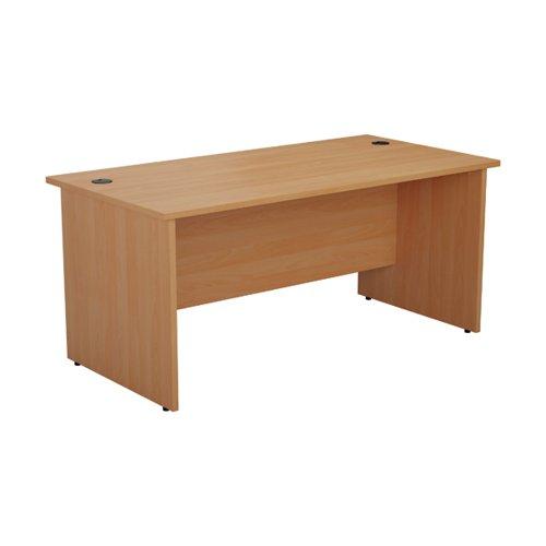 Jemini Rectangular Panel End Desk 1600x800mm Beech KF804529