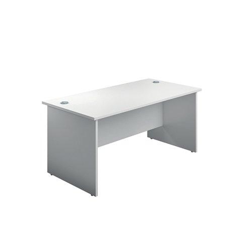Jemini Rectangular Panel End Desk 1800x800mm White KF804550