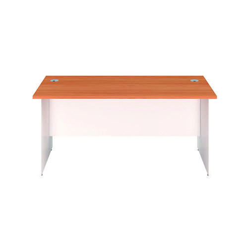 Jemini Rectangular Panel End Desk 1200x800mm Beech/White KF804642