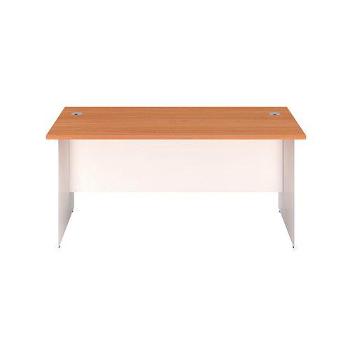 Jemini Rectangular Panel End Desk 1400x800mm Beech/White KF804703