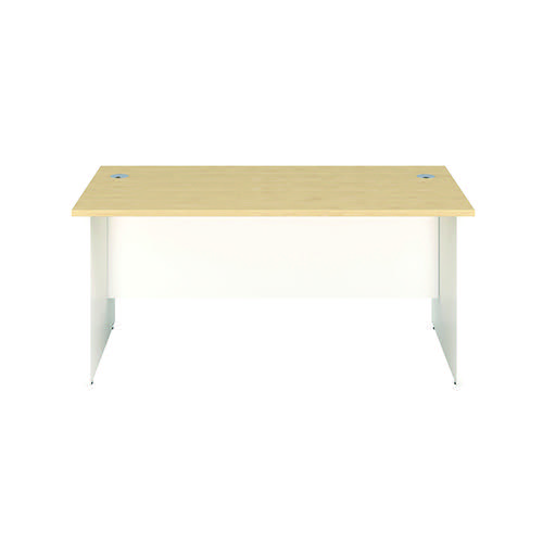 Jemini Rectangular Panel End Desk 1400x800mm Maple/White KF804741