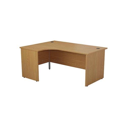 Jemini Left Hand Radial Panel End Desk 1600x1200mm Nova Oak KF805021