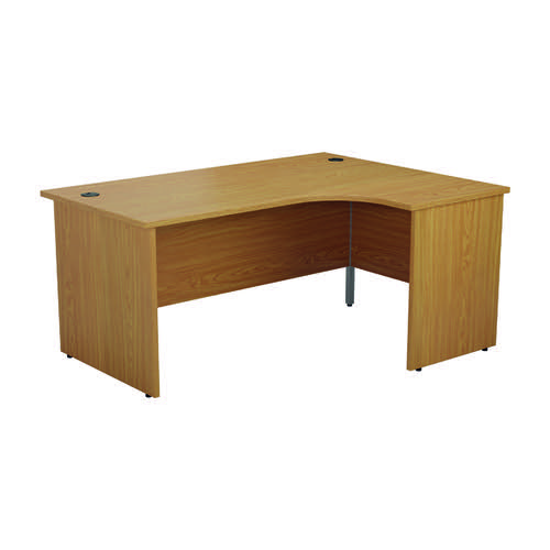 Jemini Radial Right Hand Desk Panel End 1600x1200x730mm Nova Oak KF805083
