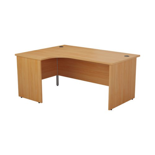 Jemini Left Hand Radial Panel End Desk 1800x1200mm Beech KF805120