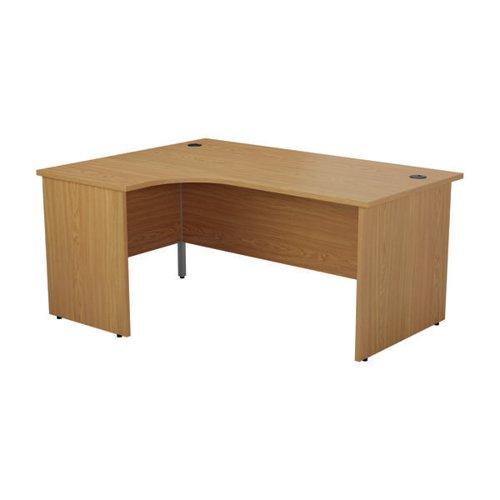 Jemini Left Hand Radial Panel End Desk 1800x1200mm Nova Oak KF805144