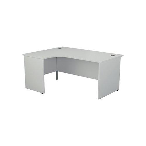 Jemini Left Hand Radial Panel End Desk 1800x1200mm White KF805151