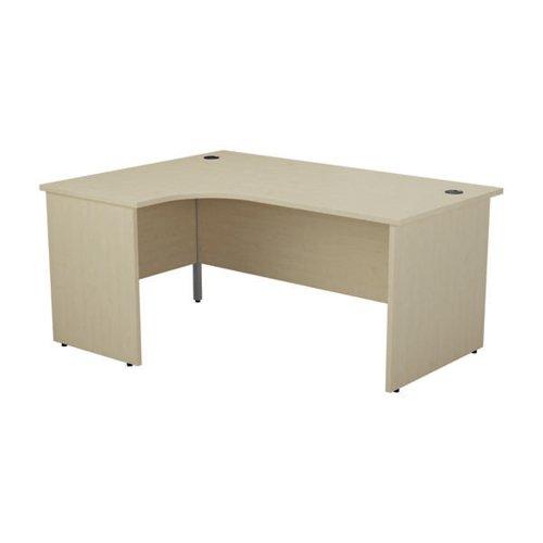Jemini Radial Left Hand Desk Panel End 1800x1200x730mm Maple KF805168